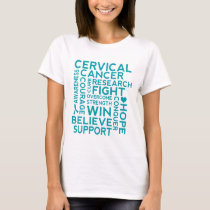 Cervical Cancer Support Awareness Womens T-shirt