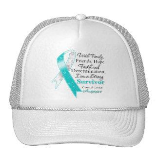 Cervical Cancer Support Strong Survivor Trucker Hats