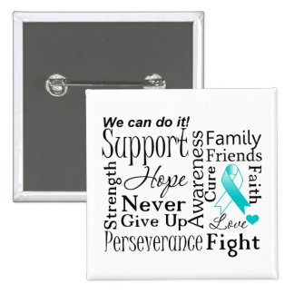 Cervical Cancer Supportive Words Buttons