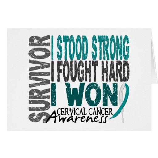 Cervical Cancer Survivor 4 Greeting Card
