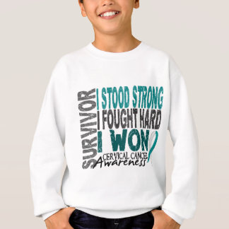 Cervical Cancer Survivor 4 Sweatshirt