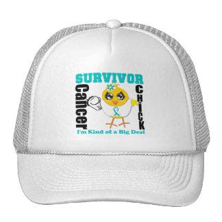 Cervical Cancer Survivor Chick Ribbon Hat