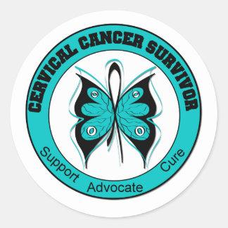 Cervical Cancer Survivor Classic Round Sticker
