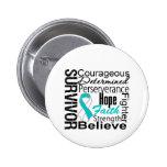Cervical Cancer Survivor Collage Pin