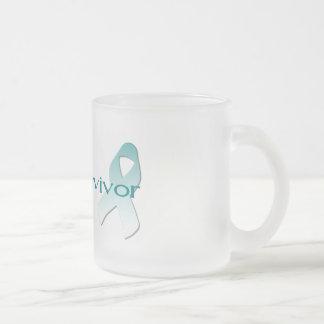 Cervical Cancer Survivor Frosted Glass Coffee Mug