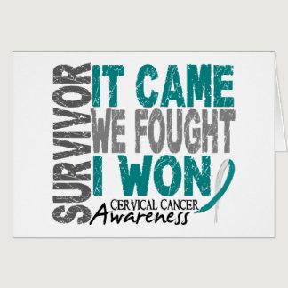 Cervical Cancer Survivor It Came We Fought I Won Card