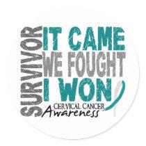 Cervical Cancer Survivor It Came We Fought I Won Classic Round Sticker