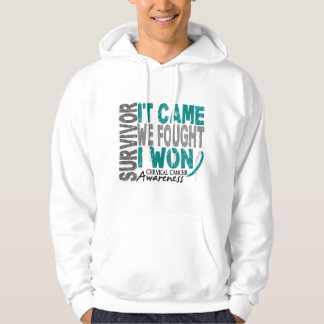 Cervical Cancer Survivor It Came We Fought I Won Hoodie