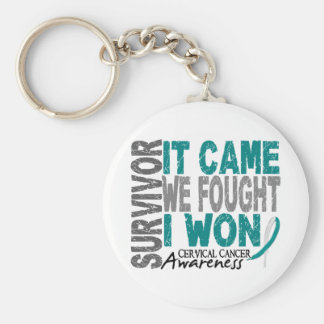 Cervical Cancer Survivor It Came We Fought I Won Keychain