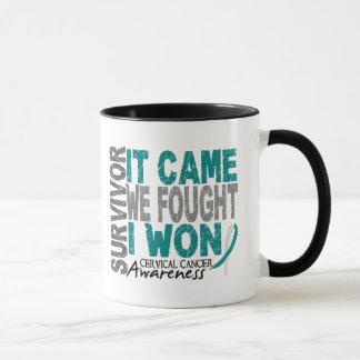 Cervical Cancer Survivor It Came We Fought I Won Mug