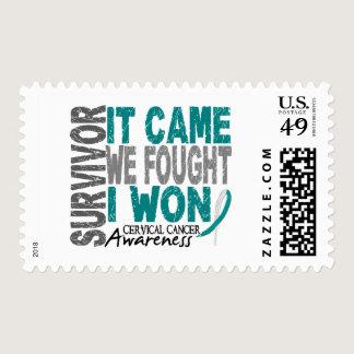 Cervical Cancer Survivor It Came We Fought I Won Postage