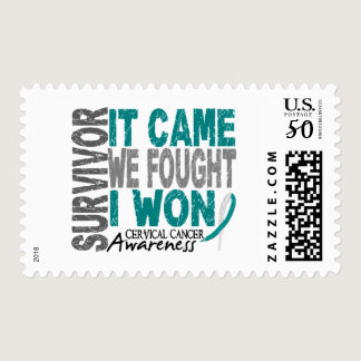 Cervical Cancer Survivor It Came We Fought I Won Postage