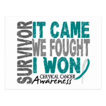Cervical Cancer Survivor It Came We Fought I Won Postcard