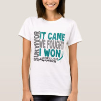 Cervical Cancer Survivor It Came We Fought I Won T-Shirt