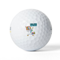 CERVICAL CANCER Survivor Stand-Fight-Win Golf Balls