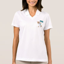 CERVICAL CANCER Survivor Stand-Fight-Win Polo Shirt