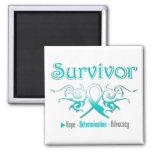 Cervical Cancer Survivor Tribal Ribbon Refrigerator Magnets