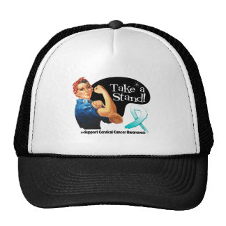 Cervical Cancer Take a Stand Mesh Hats