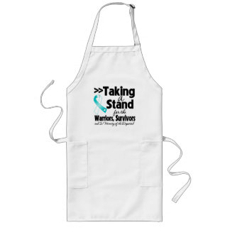 Cervical Cancer Taking a Stand Tribute Long Apron