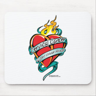 Cervical Cancer Tattoo Heart Mouse Pad