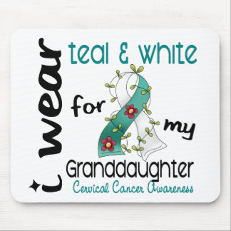 Cervical Cancer Teal & White For My Granddaughter Mouse Pad