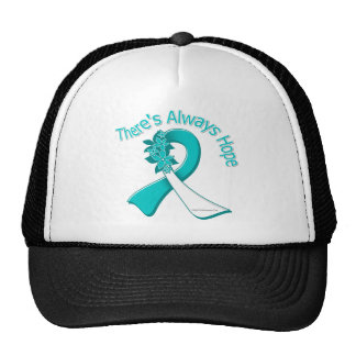Cervical Cancer There's Always Hope Floral Hat