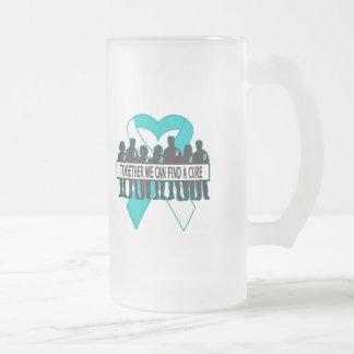 Cervical Cancer Together We Can Find A Cure 16 Oz Frosted Glass Beer Mug