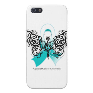Cervical Cancer Tribal Butterfly Ribbon Case For iPhone 5