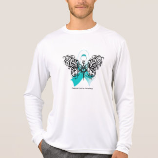 Cervical Cancer Tribal Butterfly Ribbon Shirts