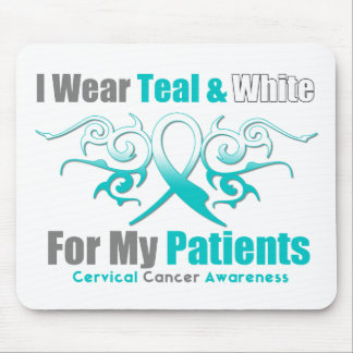 Cervical Cancer Tribal Ribbon Support Patients Mouse Pad