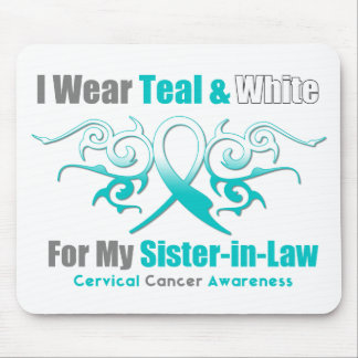 Cervical Cancer Tribal Ribbon Support SisterInLaw Mouse Pad