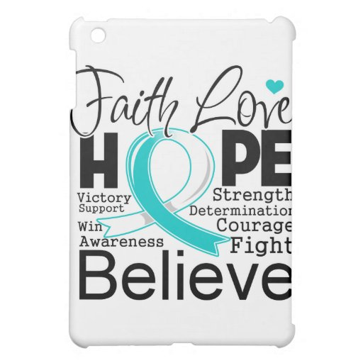 Cervical Cancer Typographic Faith Love Hope iPad Mini Case