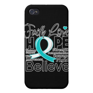 Cervical Cancer Typographic Faith Love Hope Cases For iPhone 4