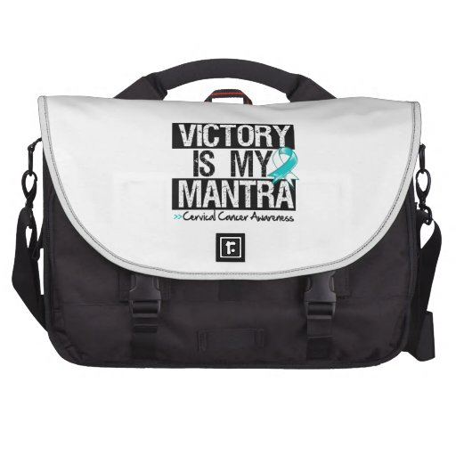 Cervical Cancer Victory is My Mantra Laptop Bags