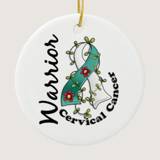 Cervical Cancer Warrior 15 Ceramic Ornament