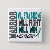 Cervical Cancer Warrior Button