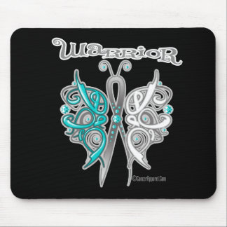 Cervical Cancer Warrior Celtic Butterfly Mouse Pad