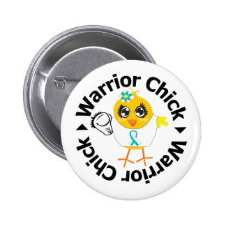 Cervical Cancer Warrior Chick Pinback Button