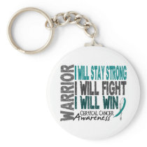 Cervical Cancer Warrior Keychain