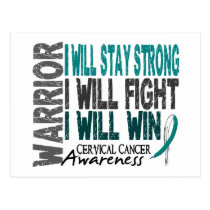 Cervical Cancer Warrior Postcard