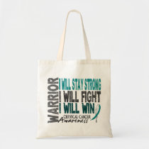 Cervical Cancer Warrior Tote Bag