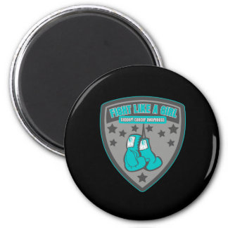 Cervical Cancer Wear Fight Like A Girl Patch Magnets