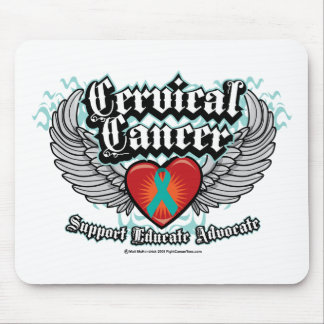 Cervical Cancer Wings Mouse Pad