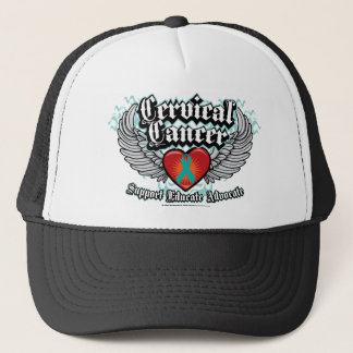 Cervical Cancer Wings Trucker Hat