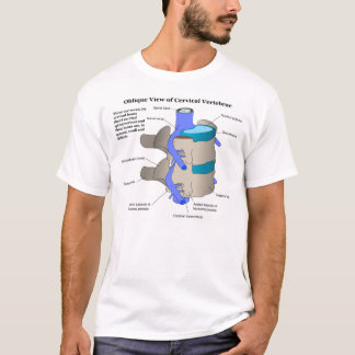 Cervical Vertebra of the Human Spinal Column T-Shirt