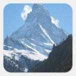 Cervino de Zermatt Pegatina Cuadrada