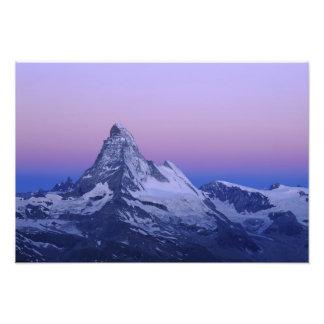 Cervino en el amanecer, Zermatt, montañas suizas, Fotografía