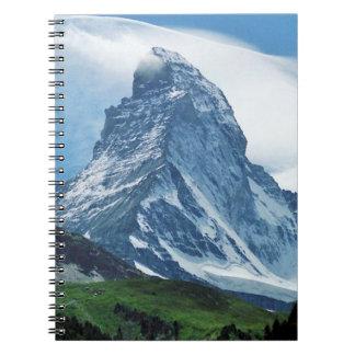 Cervino, montañas note book