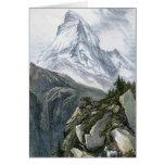 Cervino o Mont Cervin Felicitación