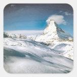 Cervino, Zermatt Calcomanía Cuadrada